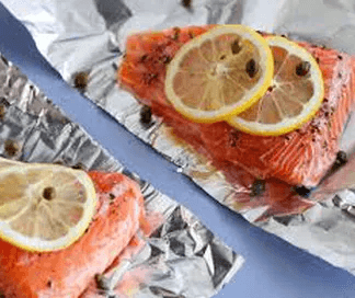 Beach Bum Baked Salmon